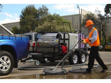 Aussie Clean and Capture system, recovers filters and recycles water