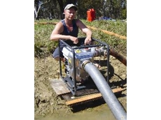 "The Aussie Quik Prime 4"" engine drive water transfer pump is designed to move large quantities of water fast"