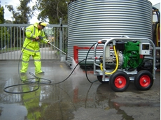 Diesel powered high pressure cleaning equipment