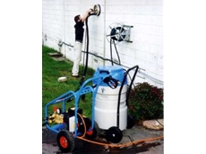 Water blaster/vacuum cleaner contractor pack for professional cleaning.