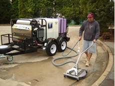 Hydro-Loop diesel powered steam cleaning system