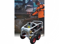 The new Yanmar powered Aussie mine spec blaster offers an efficient cleaning package with added safety features