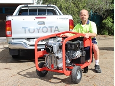 Aussie's Joe Attard with the Aussie QP3TI, an innovative driverless pump