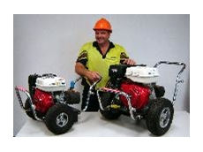 Blasters and drive pressure cleaners