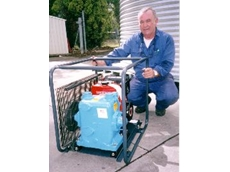 This megator sliding shoe pump is powered by a yanmar diesel and supplied in a convenience roll frame.