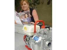 Kerry McArthur from Blayney, NSW checks out the new Aussie Survival Guide for tips on how to get the best out of her fire protection system