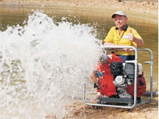 "The Aussie 6"" MQ600TD wet prime trash pump deployed to save Horsham from flooding during the deluge"