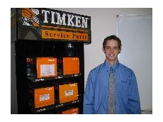 Timken's new sales rep, Nathan Little.