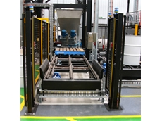 Drum and pallet conveying system
