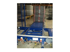 Chain type pallet conveyors showing side transfer