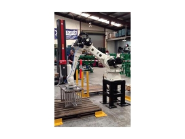 Robotic palletiser during factory testing
