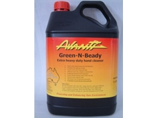 Avanti Chemicals' Green-N-Beady heavy duty gel hand cleaner