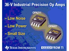 TI delivers precision 36-V amplifiers with low power and small size