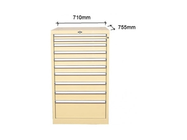 High density storage drawers offer a stable enclosure for parts, tools and components