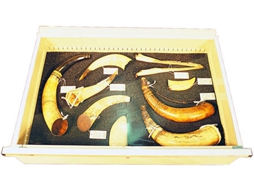 Clear presentation of artefacts with large display drawers
