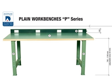 Strong and sturdy Plain Workbenches to suit your specification