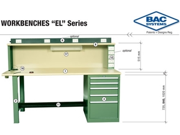 Developed for comfort and efficiency with EL Series Technician specific workbench