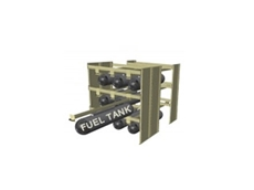 High performance Defence Racking Systems for fuel tanks and parts