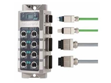 Balluff's new push-pull PROFINET IO-Link master module provides both fibre optic (SCRJ) and copper (RJ45) push-pull connections