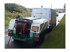 The transportation of Harben sewer cleaning equipment.