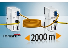 The EtherCAT media converters meet the requirements for a highly deterministic EtherCAT network