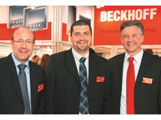 (L-R) Jens-Olaf Brede, Beckhoff Area Sales Manager, Tamás Perecz, Managing Director of Beckhoff Hungary, and Kai Ristau, Beckhoff Head of International Sales and Business Development