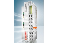 The EK1818 EtherCAT Coupler integrates 16 additional I/O connection points for up to 12 digital I/Os in a standard Bus Coupler housing