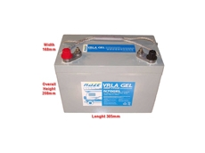 New valve regulated lead acid gel batteries