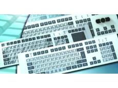 3U rackmount industrial keyboards