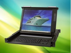 """Backplane Systems Technology releases IP65 rated short-depth 1U rackmount 17"""" LCD KVM with 1, 8 or 16 port switch"""