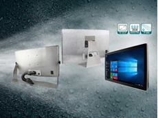 Stainless steel panel PCs feature full IP69K rated water, dust and corrosion-proof housing.