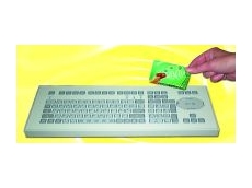 Keyboard with chip card reader