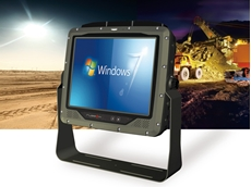 """RuggON's 10.4"""" ultra rugged vehicle computer designed for mining, emergency services and waste management applications"""
