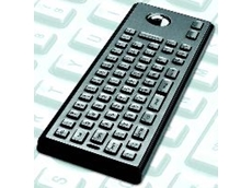 Peripheral step runs around the edge of each keytop preventing the insertion of blades or other sharp implements.
