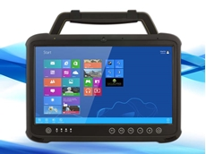 Winmate's M133 features the larger screen size of a laptop in a tablet form factor