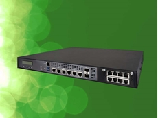 iBASE's FWA8708 enterprise 1U network appliance featuring 8th Gen Intel Xeon/Core i7/i5/i3 processor and 16 GbE ports
