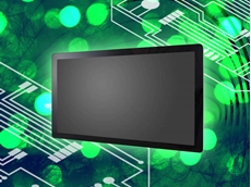 iBASE's UPC-7210 is a 21.5-inch fanless panel PC with a full flat bezel design