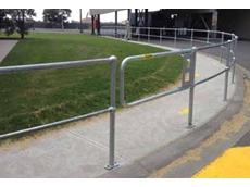 Ball-fence single galvanised gate