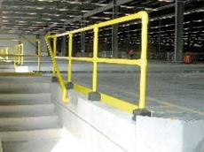 Fibreglass reinforced plastic rail system