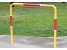 Customised hand rail installed at a crossing point
