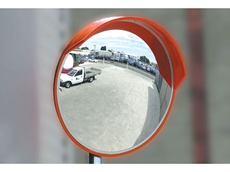 Durable weatherproof outdoor convex mirror
