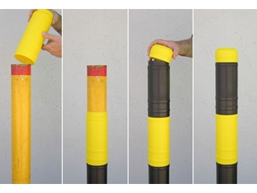 Bollard Protection Sleeves from highest quality Barrier Group design