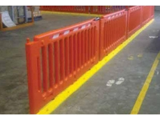 Menni-Q modular pedestrian separation fence