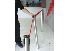 Neata crowd control retractable belt barriers now available from Barrier Security Products
