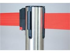 Neata fixed flexible in-floor retractable belt barrier