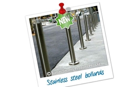 Stainless steel bollards from Barrier Security