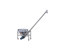 Inclined Stainless Steel Auger Conveyor by Baumnn Industries