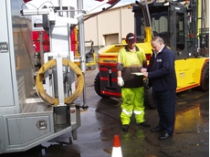 Onsite Forklift Tyre Fitting and Pressing from Bearcat Tyres