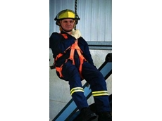 Standards approved abseiling harness for emergency services