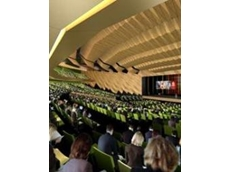 Every seat in the fan-shaped, self-tiering, 5000 seat plenary hall at the new Melbourne Convention Centre